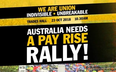 Australia Needs a Pay Rise Rally called for October 23